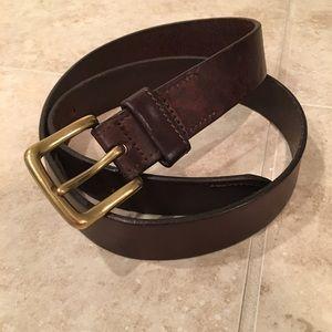 Vintage Brooks Brothers belt- gorgeous dark brown